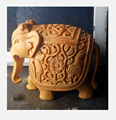 Handmade Statue Carving Sculpture India Rich Art And Craft Jaipur Rajasthan Animal Figure wooden Elephant