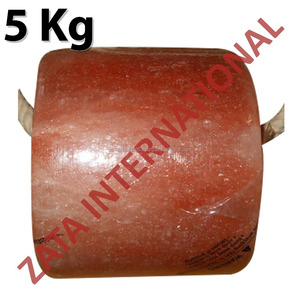 Himalayan Natural Rock Cylinder Salt Licks Licking Feed Mineral Stone 5 Kg for Livestock Cattle Horse Camel Cow Sheep
