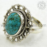 Just Perfect! Turquoise 925 Sterling Silver Gemstone Ring, Handmade Silver Jewellery, Collection Of Silver Jewellery RNCB1312-4