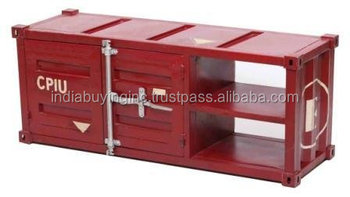 New metal display industrial table cabinate