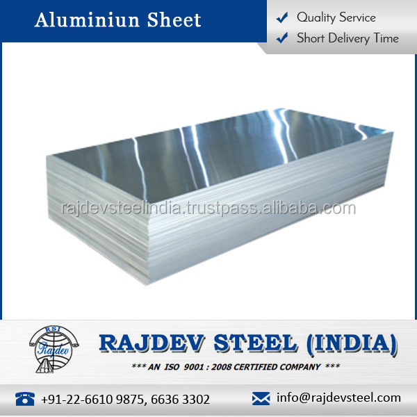 High Grade Rust Resistant Alluminium Sheet at Industrial Market Price