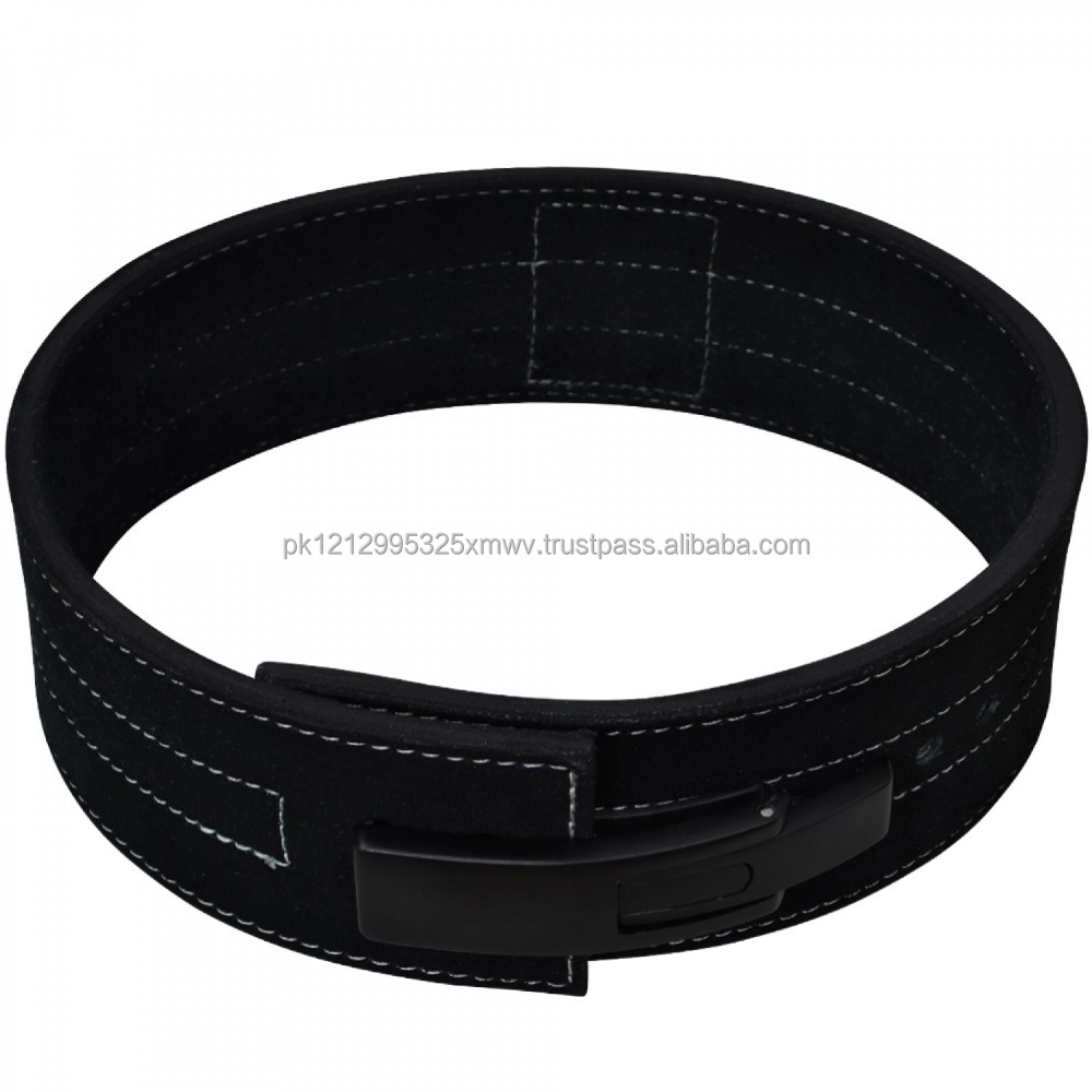 Wholesale fashionable custom men's brown leather weightlifting belt