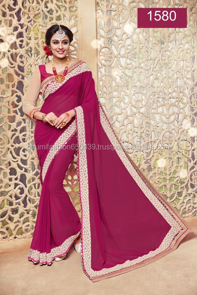 FASCINATING MAGENTA COLOUR SAREE
