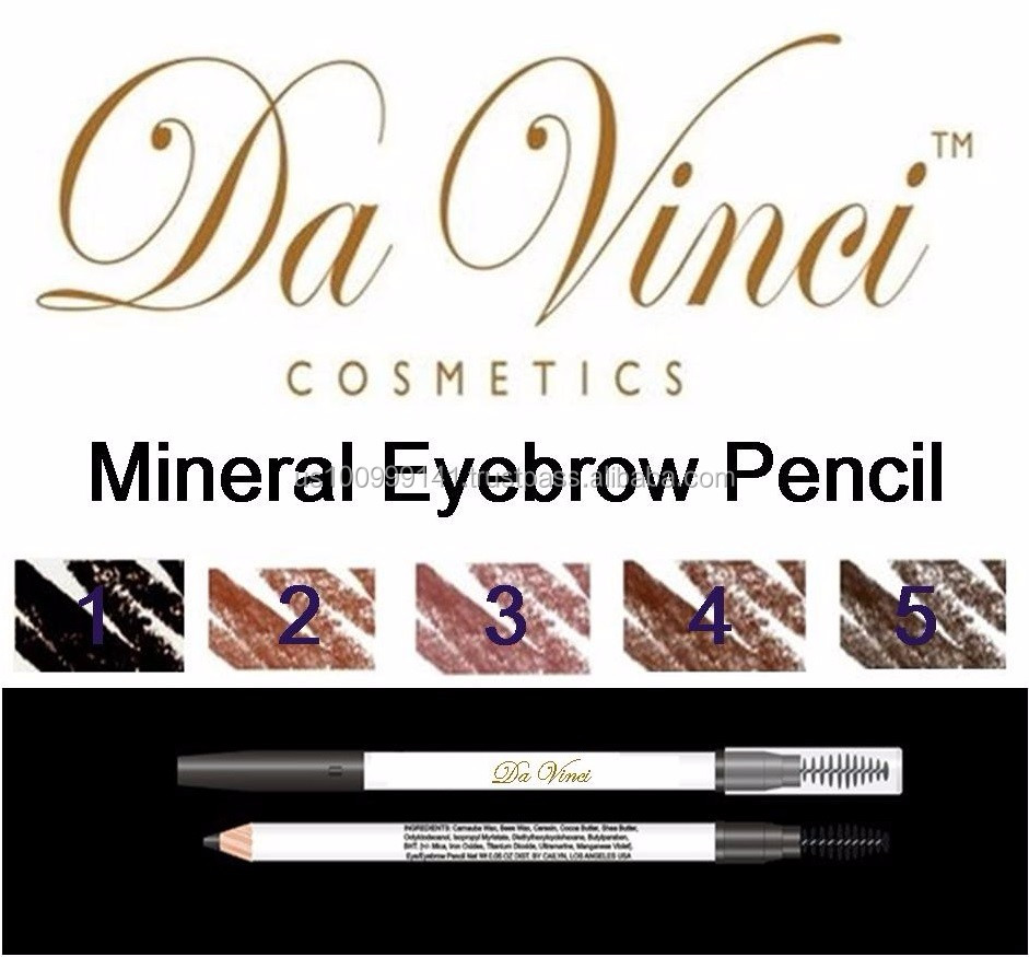 Wholelsale Da Vinci Mineral Eyebrow Pencil - Black, Brown, Coffee, Henna, & Puce