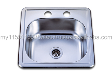 Single Bowl top mount porcelain sink