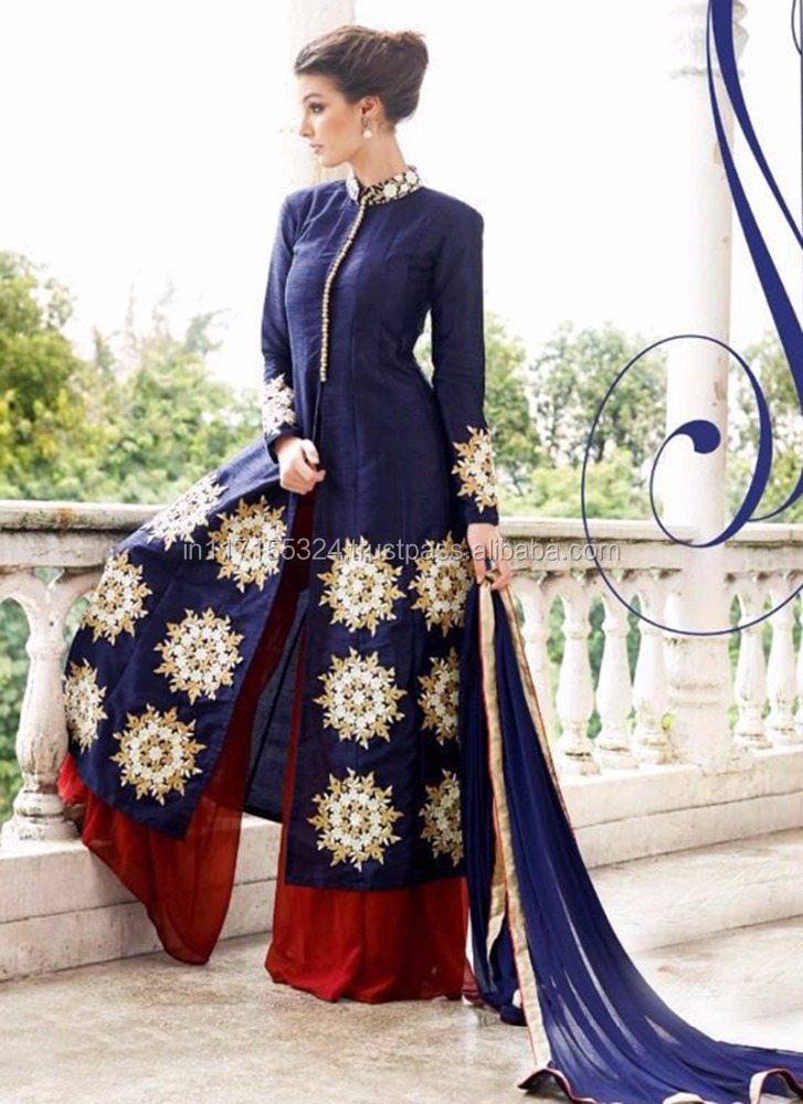 Long sleeve anarkali salwar kameez - Pakistani salwar kameez - Ethnic wear bulk salwar kameez - India wholesale clothing