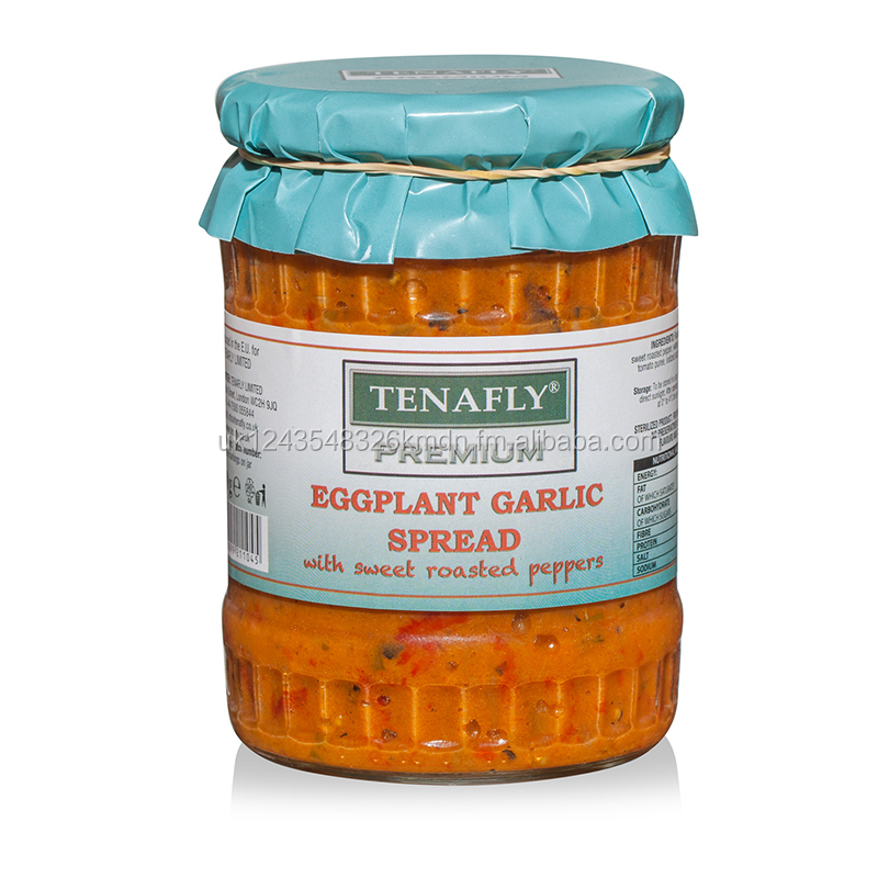 TENAFLY Premium Eggplant Garlic Spread with sweet roasted peppers - 540g