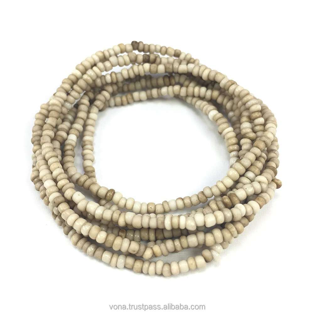 White Seed Glass Loose Beads for Jewelry Making Fashion Handmade DIY Beads Wholesaler Indonesia