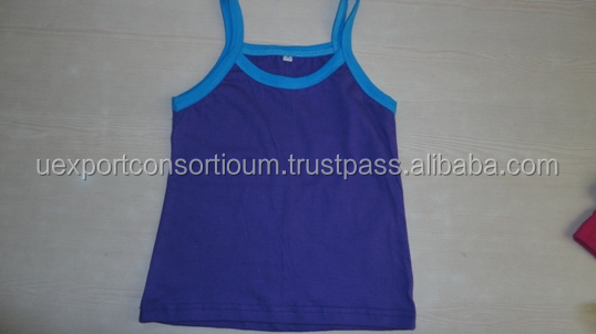 Girls top vest blue, red, white etc