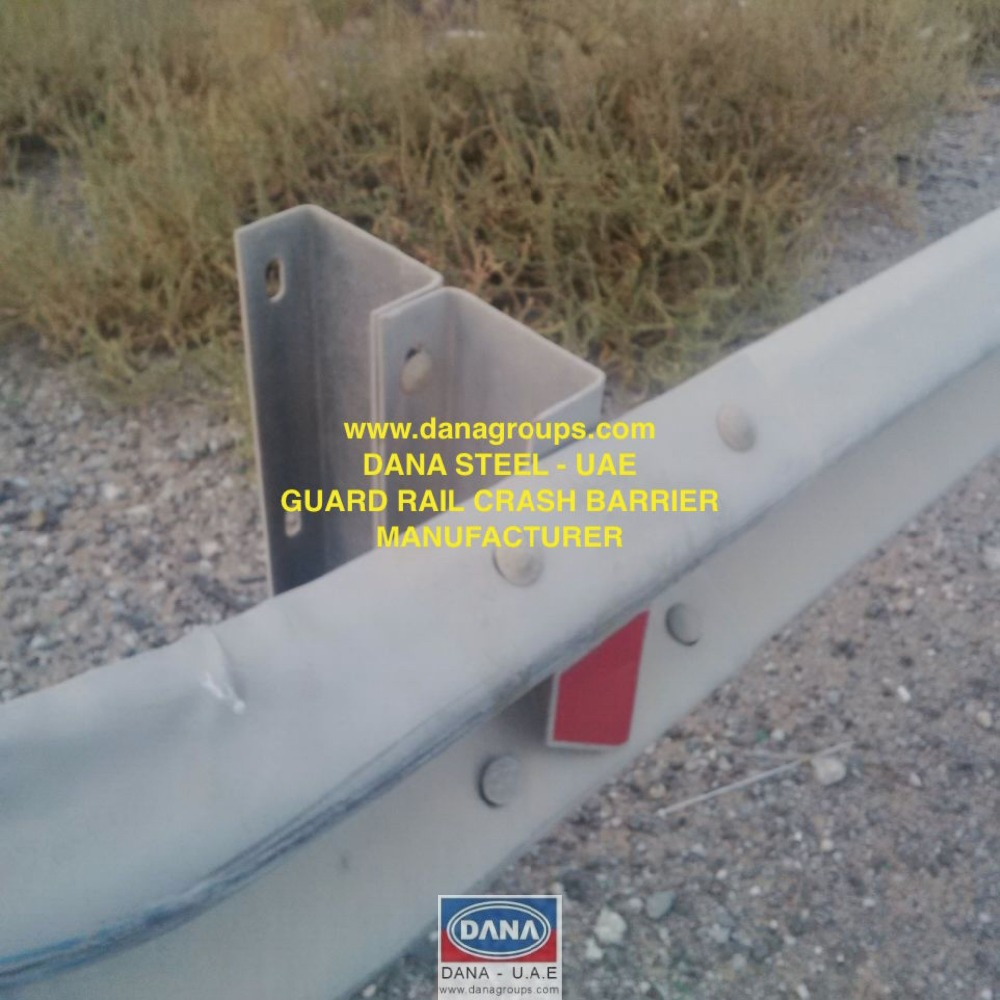 Crash Barrier Guard Rail Road UAE - DANA STEEL