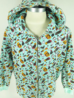 BAPE A BATHING APE Baby Milo KAWS X animal dismembered aqua Zip Hoodie
