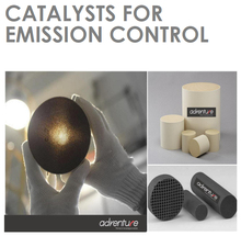 TWC catalysts coated substrates