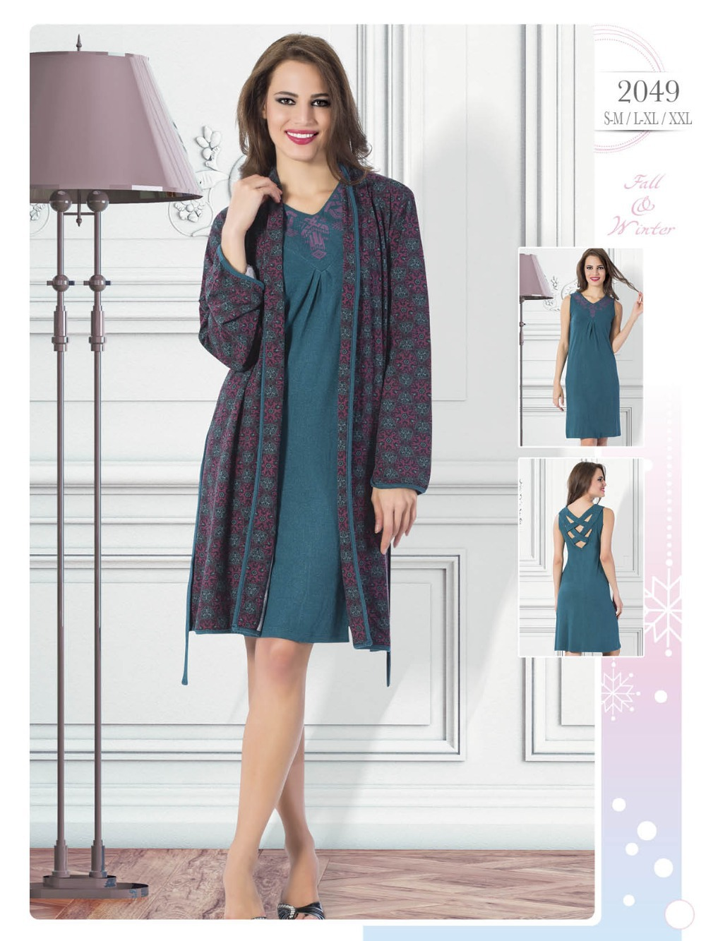 Autumn 2015-Winter 2016 Collection Turkish Pajamas, Cotton Women Pajamas, Woman Homewear Pyjamas