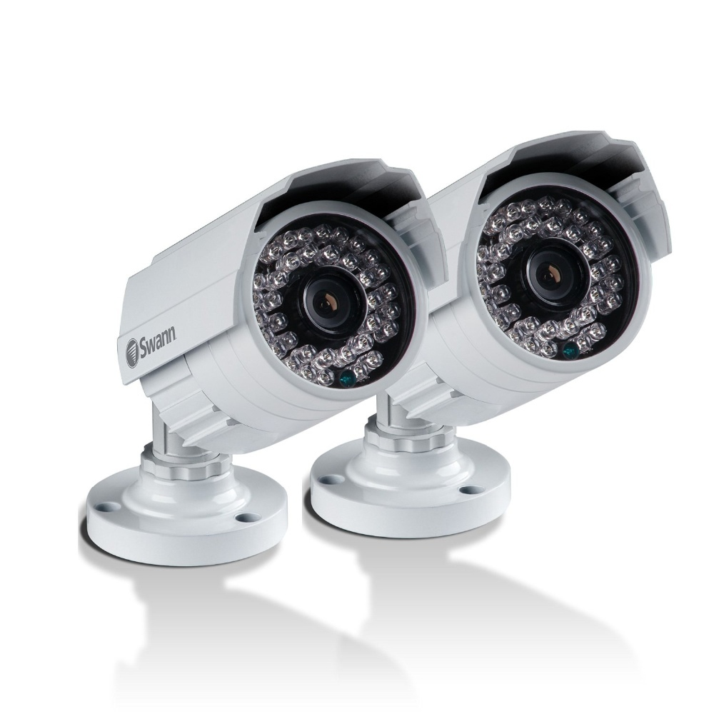 SWN15 - SWANN CCTV 2x PRO-642 700TVL BULLET CAMERA (2 PACK) DAY/NIGHT SECURITY 25M NIGHT VISION INDOOR/OUTDOOR WEATHERPROOF IP67