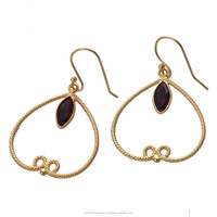 Latest silver over gold plated earring designs 2015 model GSER000112