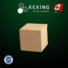 Loose Cordierite Monolith Honeycomb ceramic heat exchanger for RTO RCO