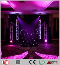 led dj backdrop effect light star curtain