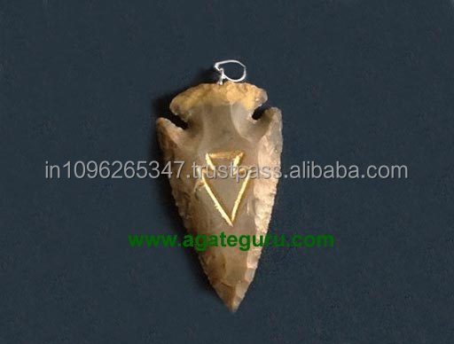 Wholesale Engraved Arrowheads Size 2 inches India Engraved Arrowhead Pendant Wholesale
