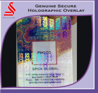 Holographic secure genuine overlays for pvc cards