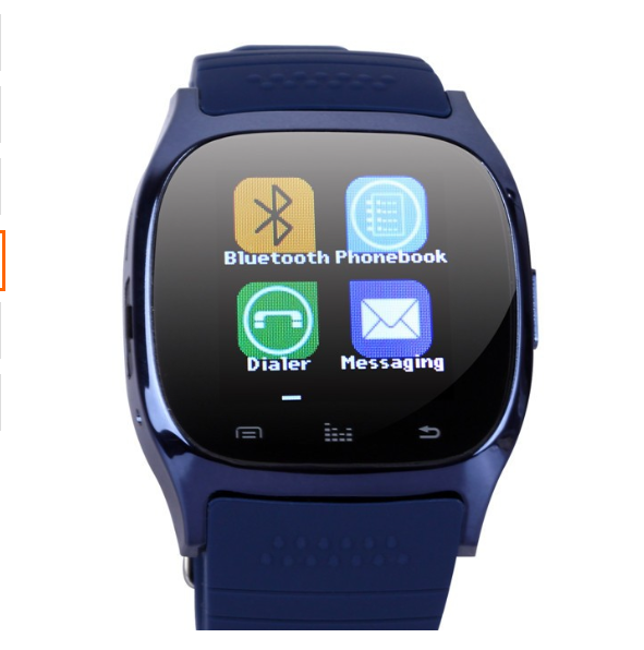 "Hot selling 1.5"" Capacitive Touch Screen rechargeable battery Silicon band colourful smart watch factory"