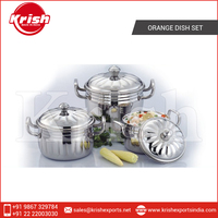 Easy to Clean and Affordable Range of Orange Dish Set from Leading Manufacturer