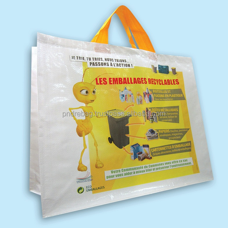 Promotional gift PP woven tote bag - grocery bag