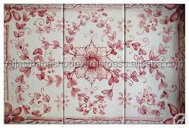 Hand made glazed ceramic wall tiles