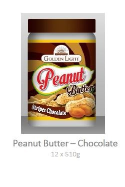 Peanut Butter - Stripes Chocolate