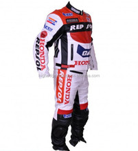 Repsol Leather Suit/Motorcycle Racing Suit/Motorbike Biker Jackets Pants