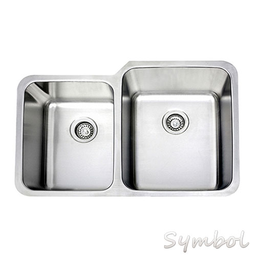 Stainless Steel Double Bowl Kitchen Sink Inclued Kitchen Sink Mounting Clips