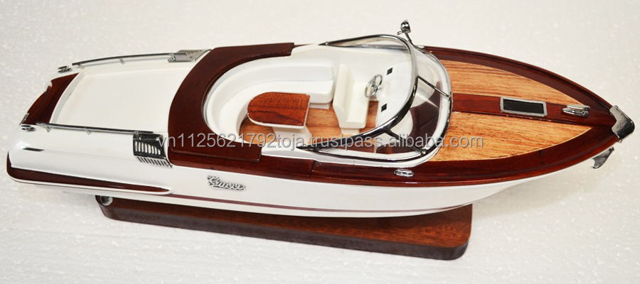 Small Riva model boat high quality, cheaper wooden model boat