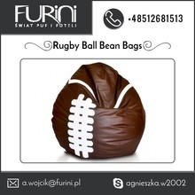 ECOLEATHER Material Type Rugby Ball Beanbag Armchair from Top Manufacturer
