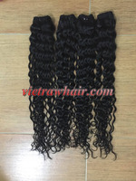 True Curly weft Hair hair extension vietnam export products thin hair