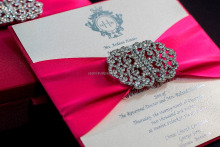Pink silk invitation