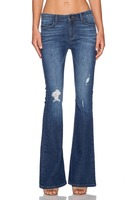 Janis Classic pocket flare Jeans in Treasure Map