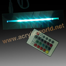 wholesale edge lit led acrylic base for poster/menu/picture acrylic lighted up base RGB led base with romote