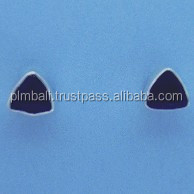 STE345-triangle stones stud earrings