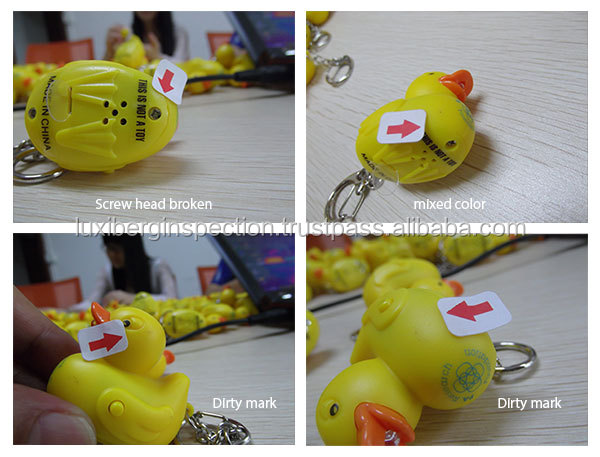 Promotional Gifts Quality Inspection Service in China / Key Chain & Key Ring LED Light Inspection before Shipment