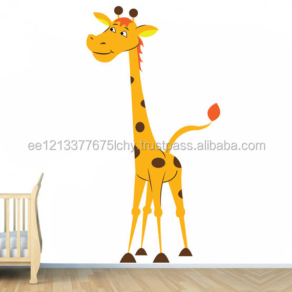 Nursery Vinyl Wall Kids Decal Giraffe Art Home Baby Animal Decor Sticker Child Kids Room Nature Decoration