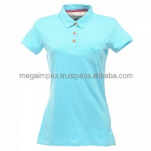 new design slim fit polo t shirts for women's