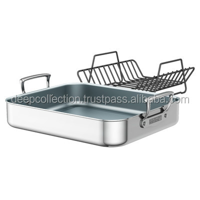 Kitchenware Roasting Pan With Rack Stainless Steel