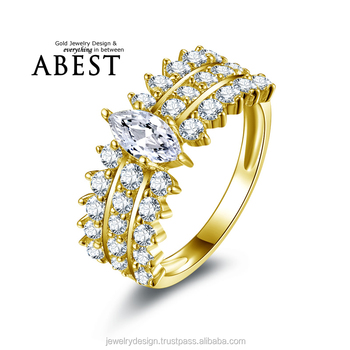10K Gold Yellow Engagement Rings Sona nscd Simulated Diamond Ring Jewelry Ring New Wedding Engagement Rings For Women Gift