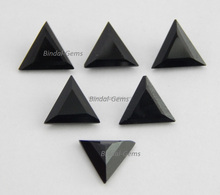Shape Triangle Black Onyx Normal Cut Loose Gemstone
