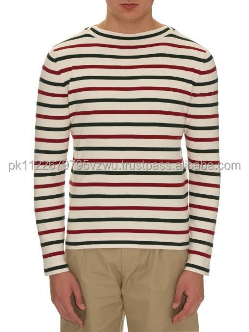 Cute style casual Fashion striped long sleeves t shirt for men, wholesale custom