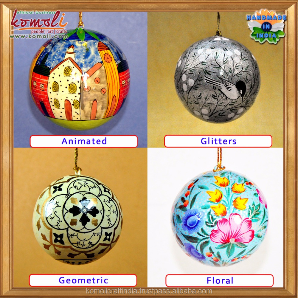 Hand painted Christmas decoration 2017 ornaments hand painted baubles