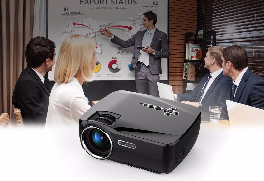 Super most stable version android wifi smart led projector vivibright GP70UP support KODI, AC3 with Dolby