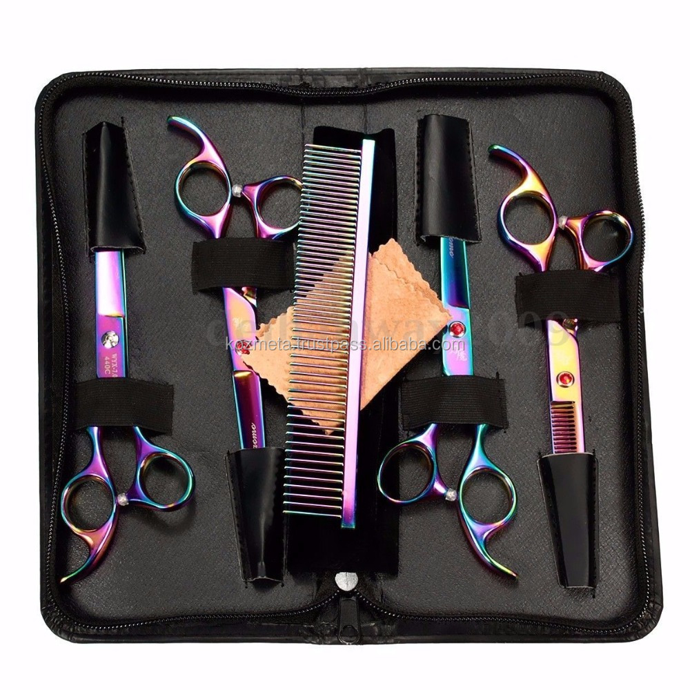 Pet Dog Cat Rabbit Grooming Cutting Hair Face & Paw Scissors