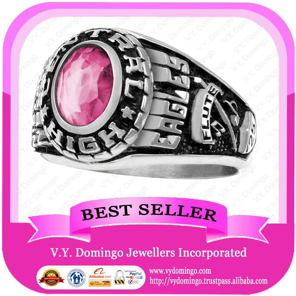 Wholesale Customized College Ring Ladies and men Design Class Ring