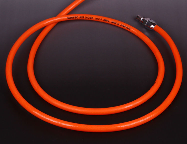 Flexible polyurethane air conditioner hose for air tools. Manufactured by Togawa Industry Corporation. Made in Japan (air hose)