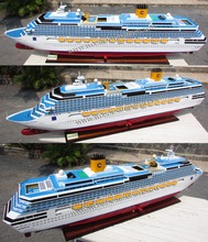 COSTA CONCORDIA WOODEN CRUISE SHIP MODEL - WOODEN OCEAN LINER MODEL FOR SALE